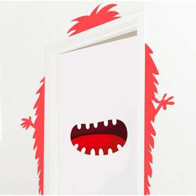 Sticker de Porte Monstre