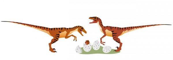 Stickers enfant Vélociraptors