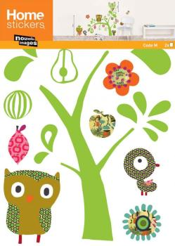 Sticker mural chat et hibou