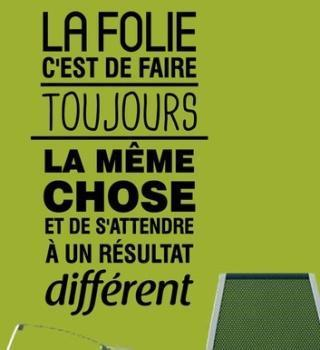 Sticker citation La folie