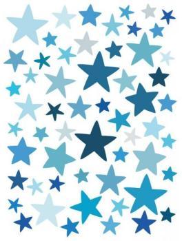 Stickers muraux Etoiles bleues