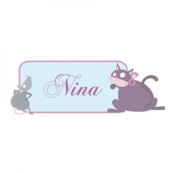 Sticker Prénom Animaux princesse