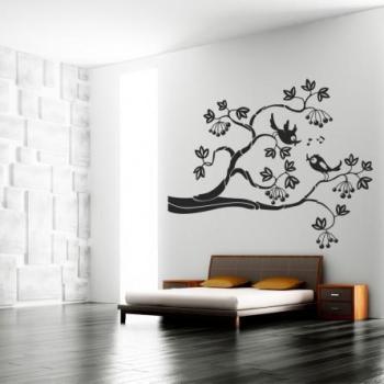 Stickers branche d oiseaux