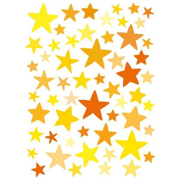 Stickers muraux Etoiles jaunes