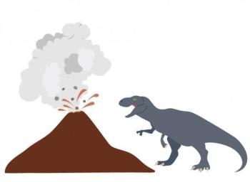 Stickers enfant Tyrex volcan
