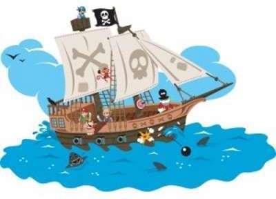 Sticker Garçon Bateau Pirates