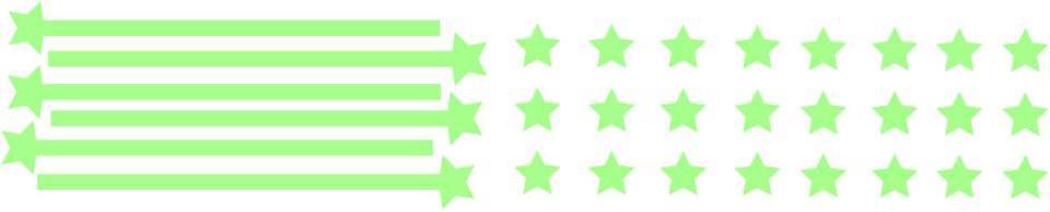 Stickers nuée d toiles Phosphorescentes