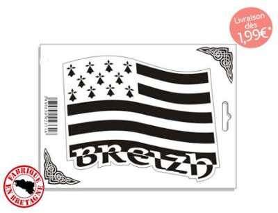 Autocollant drapeau breton