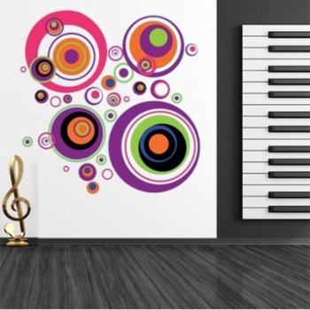 Stickers cercle multicolore