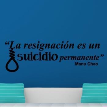 Sticker citation La resignacion