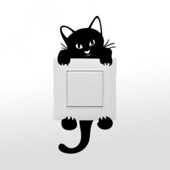 Stickers chat pour prises
