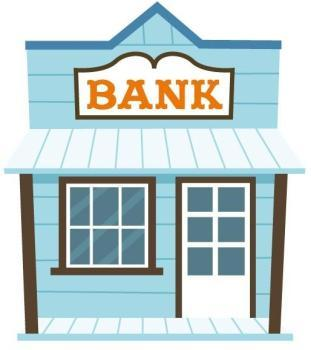 Sticker déco banque