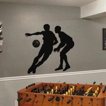 Sticker Deux joueurs de basket-ball
