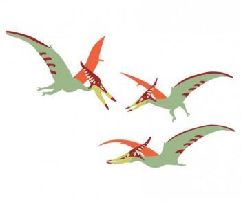 Stickers enfant 3 ptéranodons
