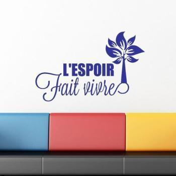 Sticker citation L espoir
