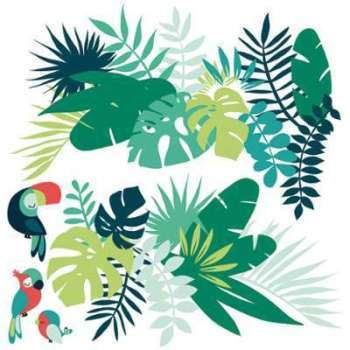 Tropica - Stickers XL - Feuilles