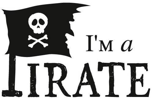 Sticker drapeau I m a Pirate