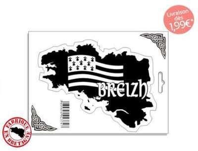 Autocollant Sticker carte