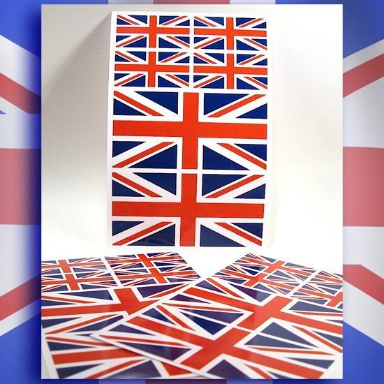 Planche de 6 stickers drapeaux