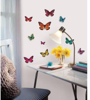 Stickers Papillons 3d