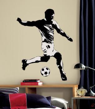 Sticker Géant Joueur Football