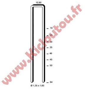Agrafes G 5562 - 40 mm Galva
