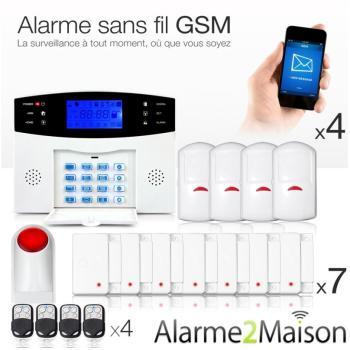 Alarme Maison GSM Sans Fil