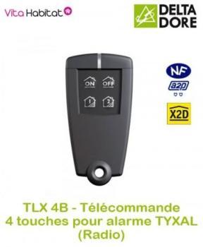 TLX 4B - Télécommande 4 touches