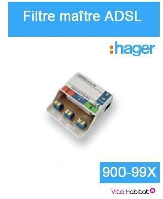 Filtre maître ADSL - Hager