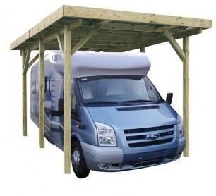 Carport en bois pour camping