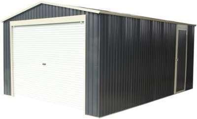 Garage métal anthracite 17