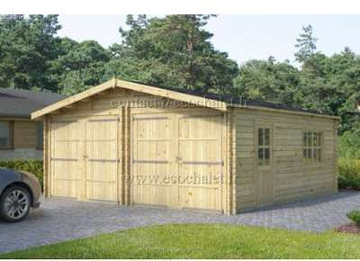 Double Garage bois 36m (6x6m)