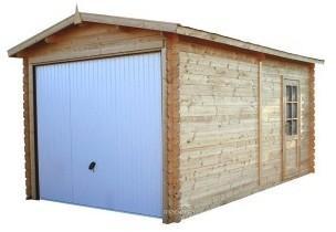 Garage bois panneaux 28 mm