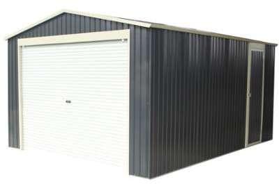 Garage métal anthracite 15