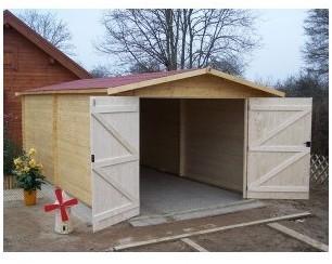 Garage en bois 28 mm 3 50