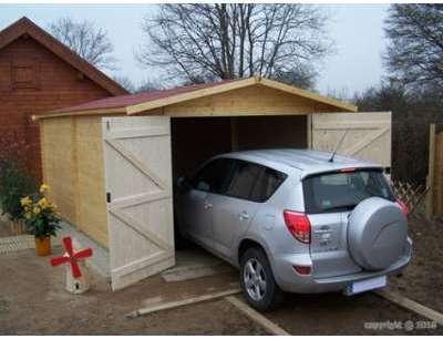 Garage voiture en bois Dorna
