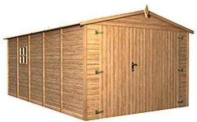 Garage en bois traité autoclave