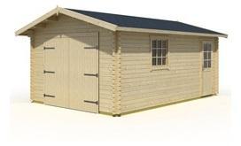 Garage ANTIGUA A en bois 20