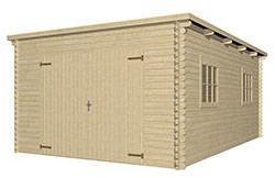 Garage bois toit plat MOREA