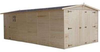 Garage en bois VOLGA 18 m2