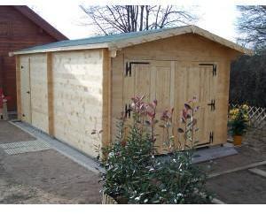Garage en bois 42 mm 3 50