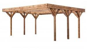 Carport en bois 6 00 x 5 10