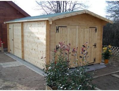 Garage en bois 42mm 3 50 x
