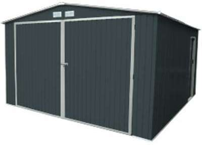 Garage en métal gris 20 m2
