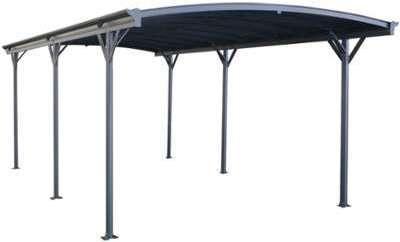 Carport en aluminium anthracite
