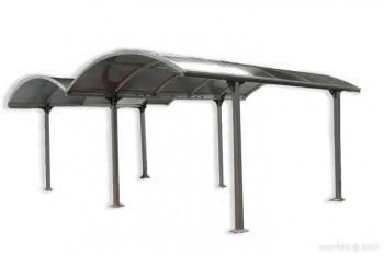 Carport en aluminium 6x4 85