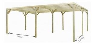 Carport en bois Monza Due