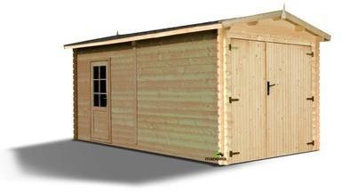 Garage en bois finitions HDG