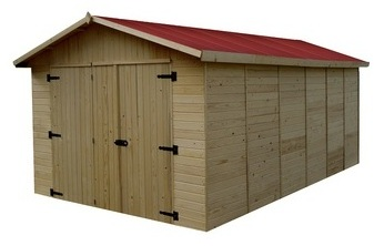 Garage panneau bois massif
