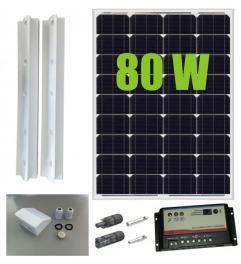 Kit panneau solaire 80W 12V